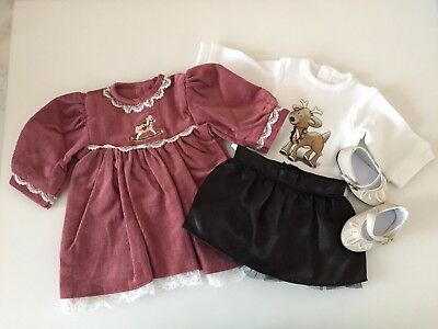 """NEW-DOLL CLOTHES: Dress/Skirt/Top/Shoes fit 18"""" Doll such as AG Dolls- Lot #296"""