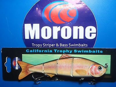 Morone Swimbaits  10 inch Oroville Pearl Trout swimbait trophy Bass Musky Pike