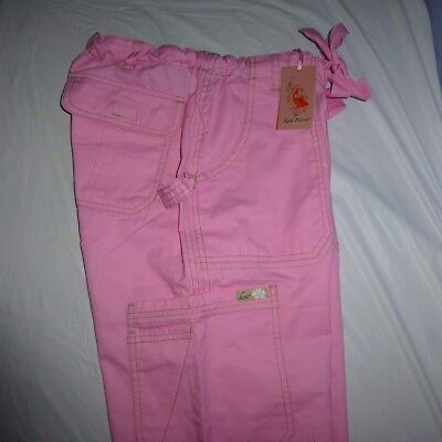 Koi Women's Tall Lindsey Cargo Style Pink Scrubs Size Small Tall NWT