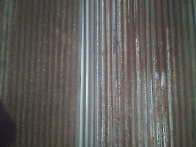 {Full Sheets Available}  Reclaimed Metal Roofing Corrugated 1 Sq Ft Sample