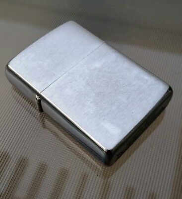Vintage 1962 brushed chrome Zippo lighter. Serviced and detailed.