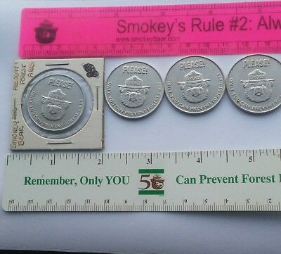 SMOKEY POSTER COIN. TWO SIDED. METAL.VINTAGE. 4 available.