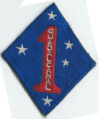 WWII 1st Marine Division Patch Guadalcanal Patch