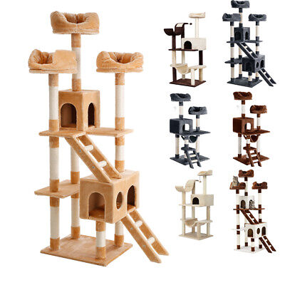 Arbre à chat griffoirs 106/148/154/181 cm Playhouse de chaton Grottes Griffes FR