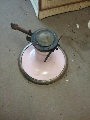 Vintage Koken Barber Chair Pink Base w/ Hydraulic's & parts