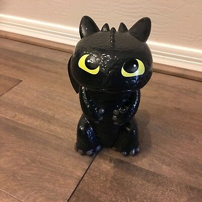 """How to Train Your Dragon, Toothless, Ceramic Piggy Bank 8 1/2"""""""