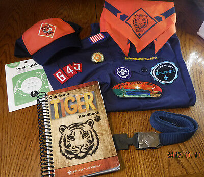 Cub Scout Tiger Bundle Handbook Patches Boy Scouts of America official items