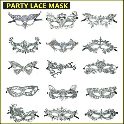 High quality silver Lace mask Ladies Masquerade Ball Costume Party New