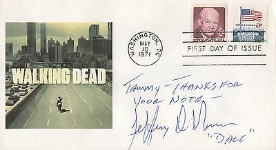 Signed Jeffrey Demunn Fdc Autographed First Day Cover Cachet The Walking Dead