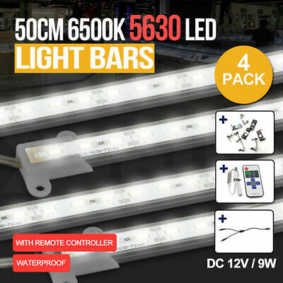 4X Cool White 12V 5630 Led Strip Lights Bars Camping Caravan Boat Car Waterproof