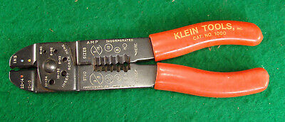 "Klein Tools Usa Cat. No. 1000 Insulated Amp inc. Wire / crimping Pliers 8"" long"