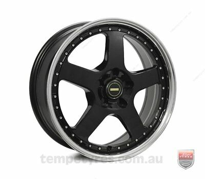 FORD  FALCON PRE AU WHEELS PACKAGE: 18x7.0 18x8.5 Simmons FR-1 Gloss Black and K