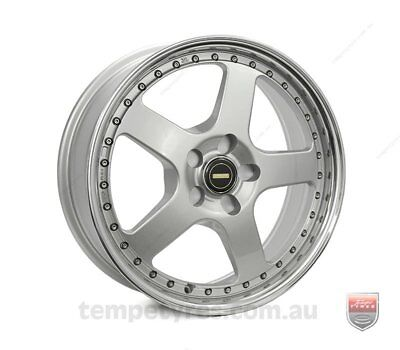FORD  FALCON AU TO BF WHEELS PACKAGE: 18x7.0 18x8.5 Simmons FR-1 Silver and Kumh