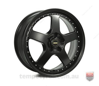 FORD  FALCON AU TO BF WHEELS PACKAGE: 18x7.0 18x8.5 Simmons FR-1 Satin Black and