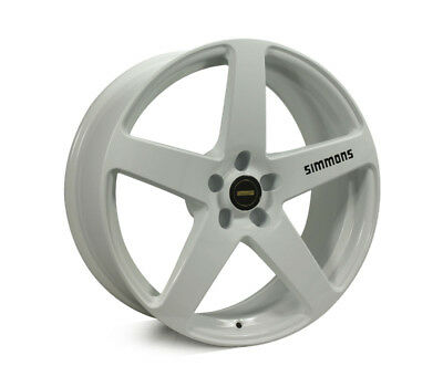 FORD MUSTANG WHEELS PACKAGE: 20x8.5 20x10 Simmons FR-C Full White and Continenta