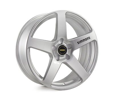HOLDEN COMMODORE VR TO VZ WHEELS PACKAGE: 18x8.0 18x9.0 Simmons FR-C Silver and