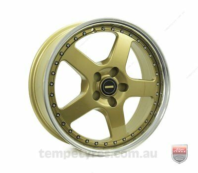 VW TIGUAN WHEELS PACKAGE: 18x7.0 18x8.5 Simmons FR-1 Gold and Kumho Tyres