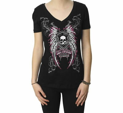 NEW OUTLAW THREADZ Women's Angel V-Neck Tee
