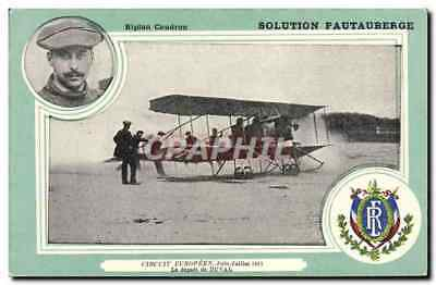 CPA Avion Aviation Biplan Caudron solution Pautauberge Circuit europeen Juin Jui