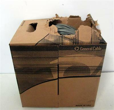 General Cable Cat 3 4PR 24AWG Gray Station Wire 600 Ft