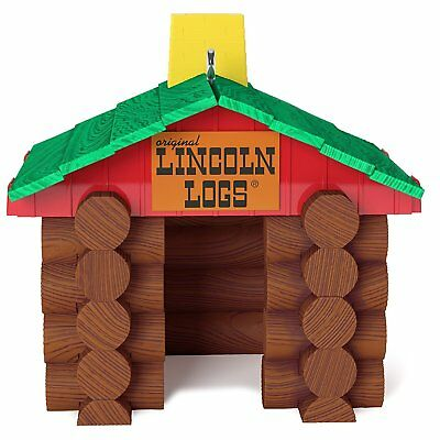 Ornament Hallmark Christmas Keepsake 2017 Lincoln Logs Holiday Family Home NEW