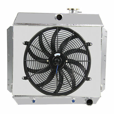 3Row Alloy Radiator + Shroud + Fan For 53-54 Chevy One-Fifty & Two-Ten Series V8