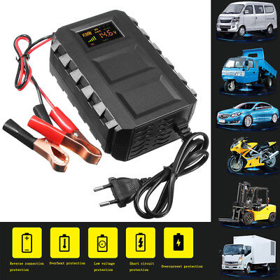 Intelligent 12V 20A Automobile Lead Acid Battery Charger Car Motorcycle US/EU