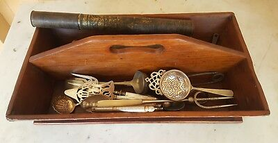 Bulk Kitchenalia - Cutlery Tray / Trug and contents- Cake Server and Fork etc..