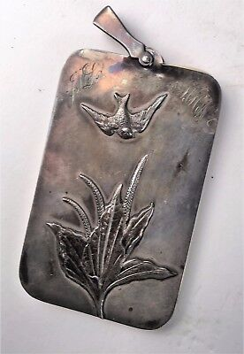 Antique Shiebler Sterling Silver 1870's Mini Notepad- Signed