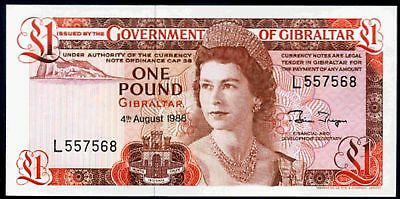 Details about  Gibraltar. One Pound, series L, 4-8-1988, Uncirculated.