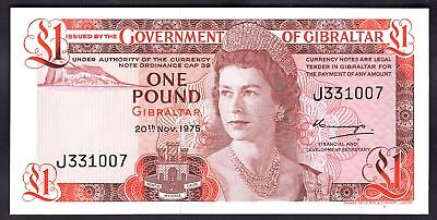 Gibraltar: Government of Gibraltar, One pound, 20-11-1975, J331007, (Pick 20a...