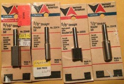"""Vermont American 23228 ½/"""" x 2 5//16/"""" Straight Router Bit USA"""