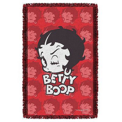"""BETTY BOOP FORTY WINKS THROW BLANKET TAPESTRY 36"""" x 58"""""""