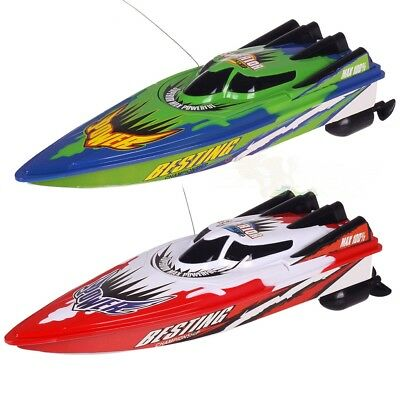 New Red/Green Radio Remote Control Twin Motor High Speed Boat RC Racing Outdoor