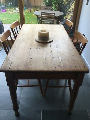 Beautiful antique pine Victorian kitchen table