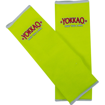 Yokkao Neon Yellow Ankle Supports (pair) Muay Thai Protection Anklet