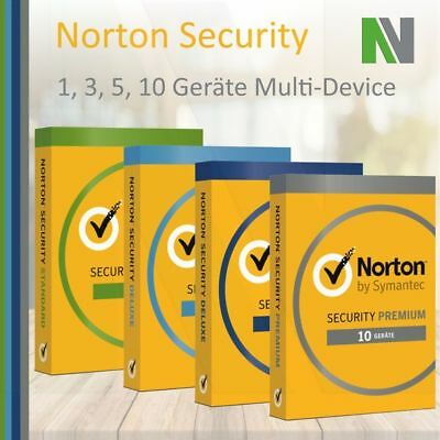Norton Security 1 3 5 10 PC Geräte 1 Jahr 2018 Android Deluxe Premium Internet