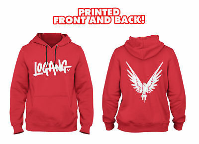 Kids Logang Hoodie (printed FRONT AND BACK with Eagle) - Jake & Paul & Logan