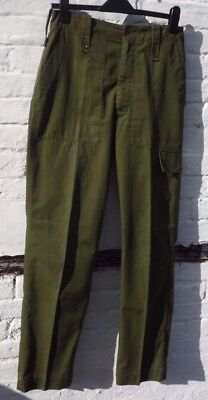 sz 10 12 Men's 32 J Compton Sons & Webb lightweight army trousers green combats