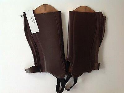Eqvvs / The English Gaiter Company Brown Leather 'Althorpe' Chaps / Gaiters