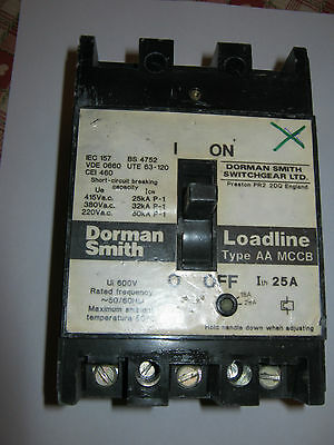 Dorman Smith  Loadline Type Aa 25A 25 Amp 3 Phase Adjustable Mcb Circuit Breaker