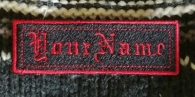 Embroidered Personalised Name Tag Multicam