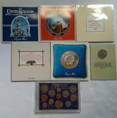 Dealer's Lot of UK GB Coins. Uncirculated Coin Collections& Others. See Pictures