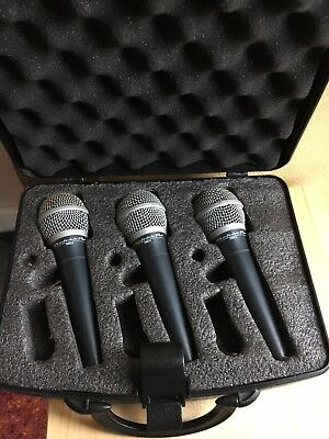 Wharfedale Pro DM 2.0 3 Mics With Box , Cables