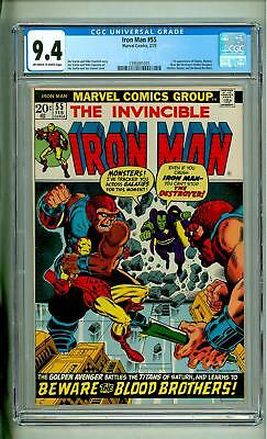 Iron Man #55 Cgc 9.4 First Thanos Drax 1973