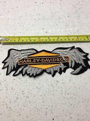Vintage harley davidson embroidered broken wings motorcycle patch.