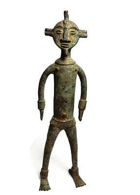 Mega Rare Museum Piece Antique African Cast Bronze Chamba sculpture