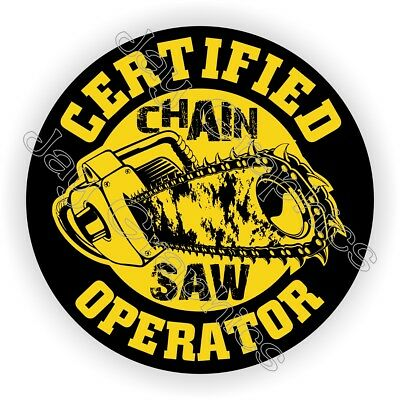 CHAINSAW Operator Hard Hat Sticker | Funny Helmet Decal Chain Saw Blade Laborer