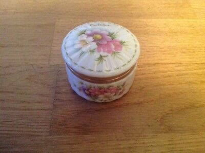 Royal Albert Flowers of the Month Series Pill Box October ( Cosmos ) 1st Quality