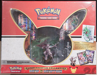 Pokemon Mew and Mewtwo 20th Anniversary Collection Super Premium Box Generations
